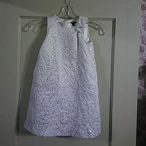 Baby Gap White and Silver Dress